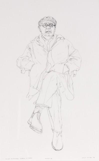 Lewis Miller_Alan Mitelman wearing a Beret